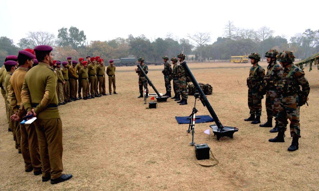 Soldiers during a programme organised on Army Day at Kapurthala near Jalandhar, Punjab on Jan 15, 2016.