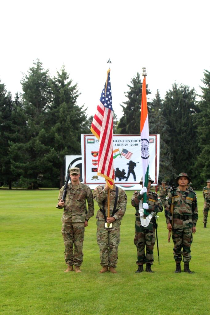 Soldiers during  'Yudh Abhyas', joint military training between India and the US in Washington, USA.