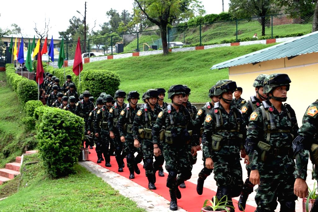 Soldiers of Royal Thailand Army during a a fourteen days Joint Training Exercise with Indian Army at Bakloh in Himachal Pradesh on July 3, 2017.
