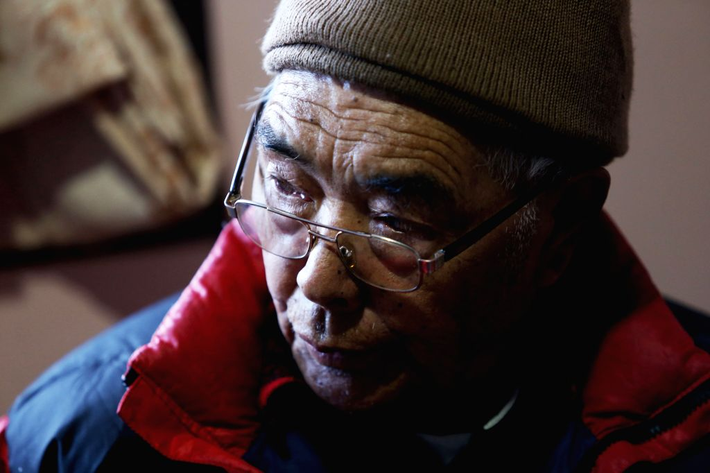 SOLUKHUMBU, Nov. 28, 2016 - 83-year-old Kancha Sherpa, the last veteran alive of the 1953 Mount Qomolangma expedition, recalls his memories during an interview with Xinhua at Namche Bazar in ...