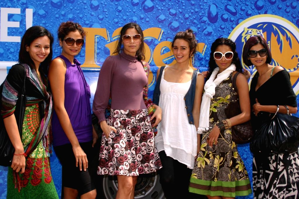 """Some of the models for """"Delhi Fashion Week"""" at launch of """"Tiger Fashion Safari Bus"""" at the Emporio Mall in New Delhi."""