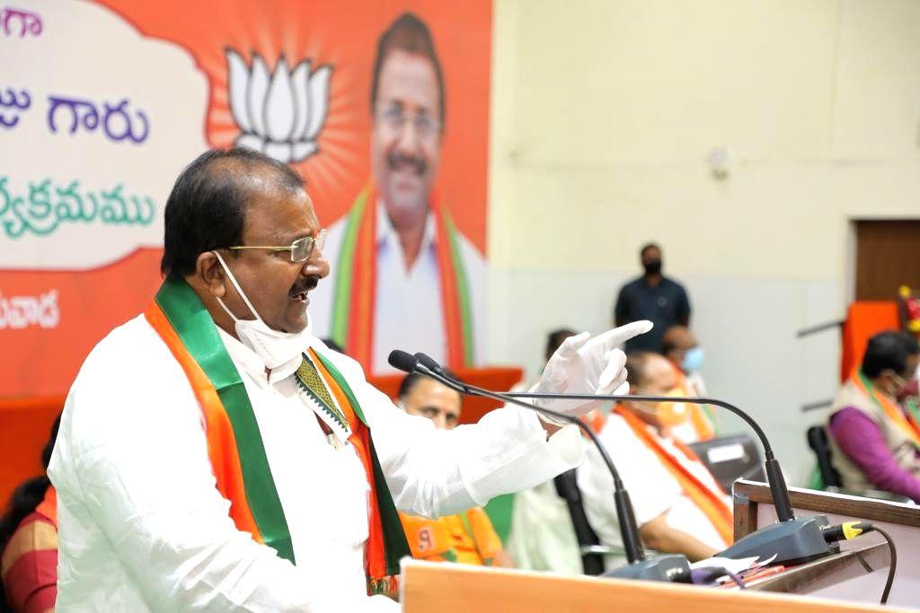 Somu Veerraju takes charge as Andhra BJP President