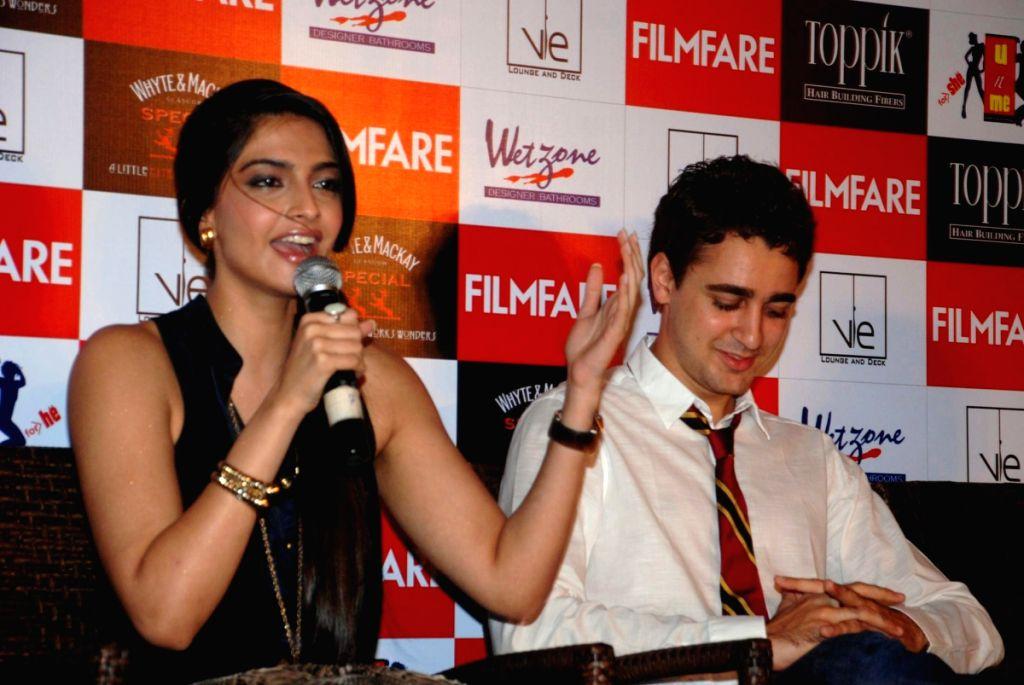 "Sonam Kapoor and Imran Khan at ""Filmfare"" launch."