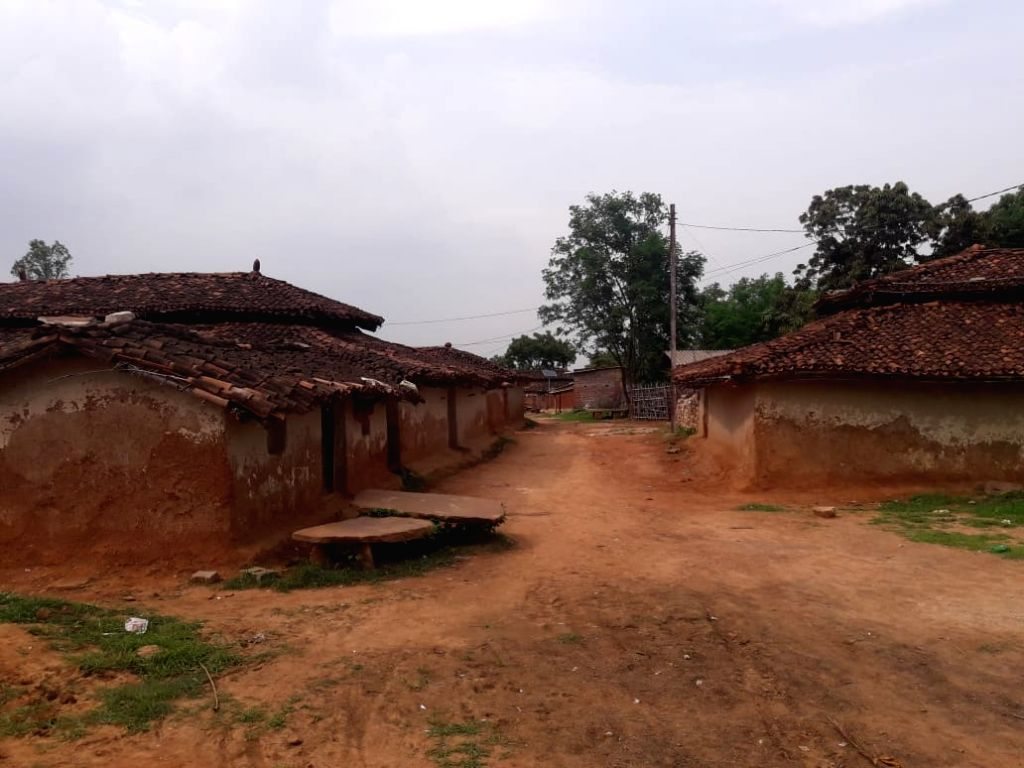 Sonbhadra: Ubhbha village of Ghoraval tehsil in Sonbhadra district of Uttar Pradesh on July 18, 2019. Police have arrested 24 people in connection with the mass murder took place in the village. A case has been registered against 78 people in this co