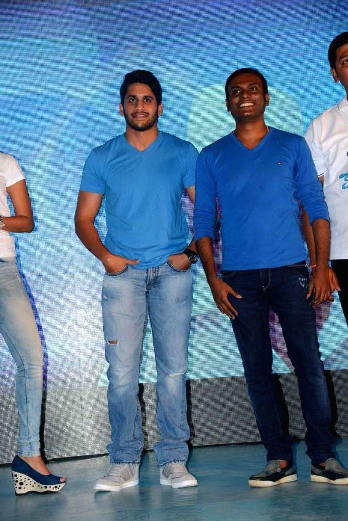 Song launch of Telugu film Oka Laila Kosam.