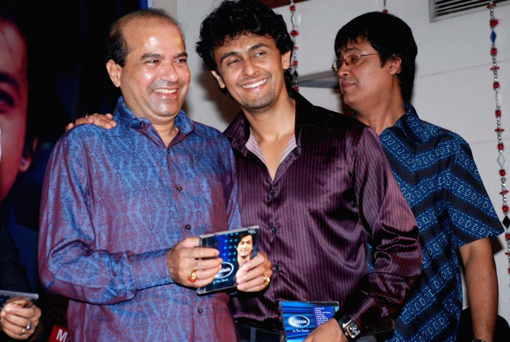 Sonu Nigam at Ravi Tripathi's album launch. - Sonu Nigam