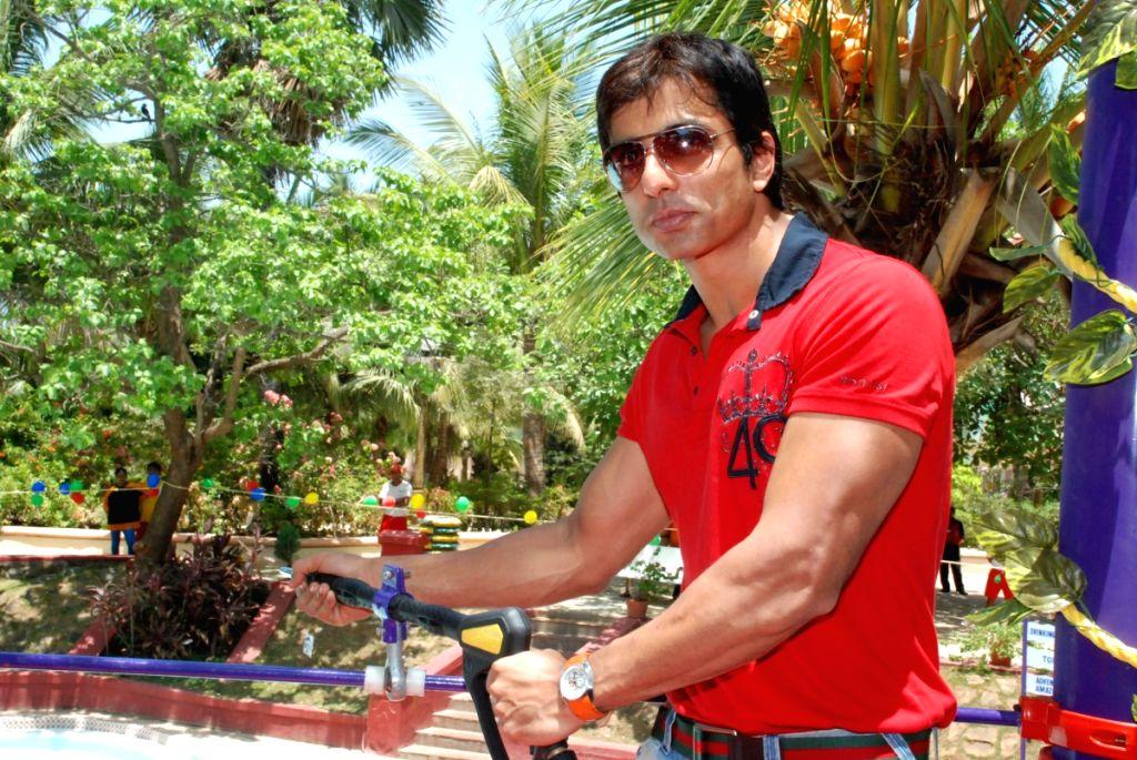 Sonu Sood launches New Ride at Waterpark in Mumbai.