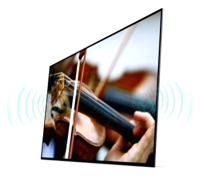 Sony Bravia OLED TV that has Acoustic Surface Technology which can emanate sound directly from the screen itself.