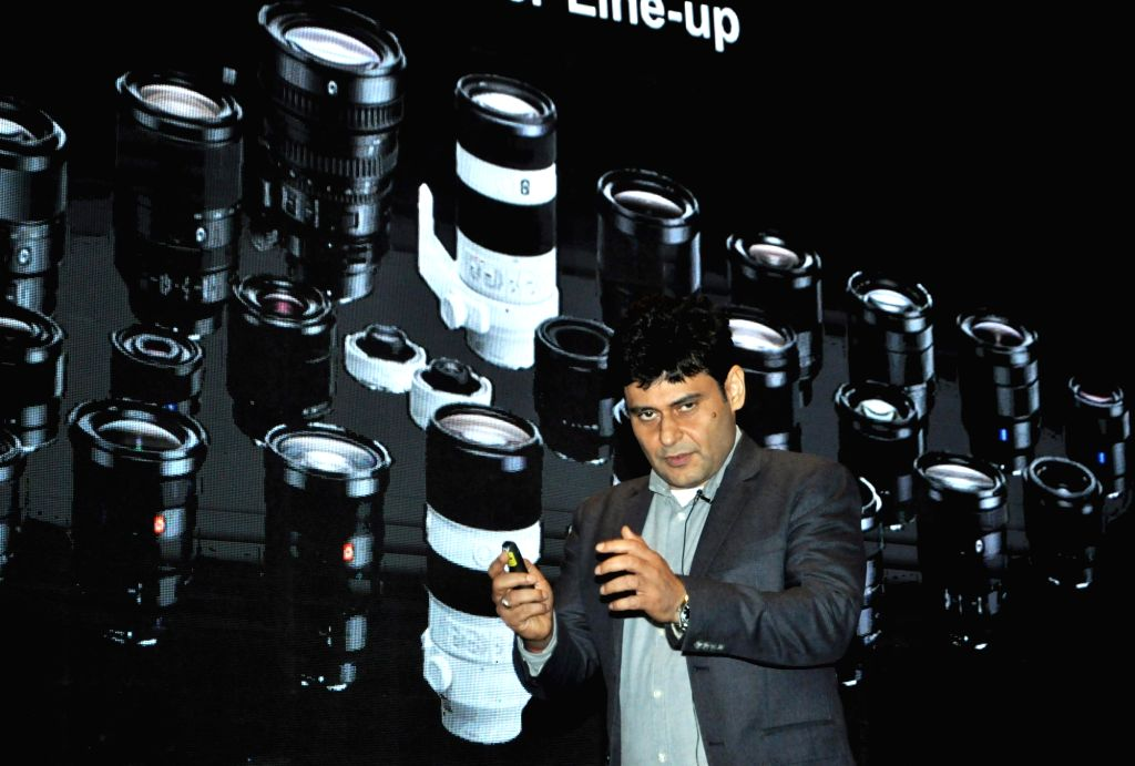 Sony India Managing Director Sunil Nayyar addresses during a press conference, in Kolkata on Sept 4, 2018.
