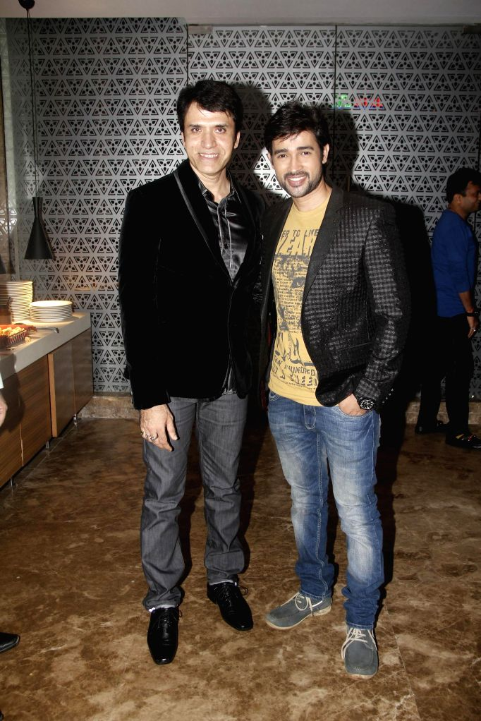 Sooraj Thapar with Jay Soni during the hosted a party by Aneel Murarka in Mumbai, on Sept. 5, 2014.
