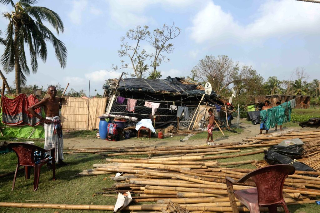 South 24 Parganas: A view of the damage and destruction caused by Cyclone Amphan at Kwakdip in South 24 Parganas, West Bengal on May 23, 2020. (Photo: IANS)