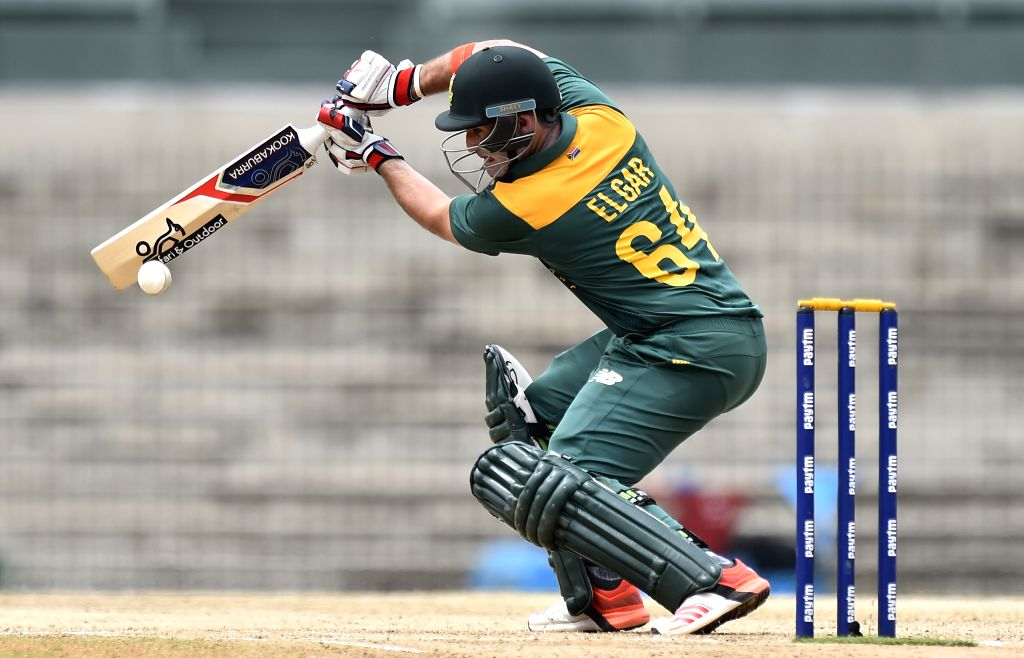 South Africa `A` player Dean Elgar in action during `India A Team Triangular Series` match between South Africa `A` and Australia `A` at MAC Stadium in Chennai, on Aug 12, 2015.