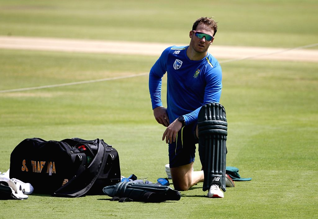 South Africa's David Millar during a practice session ahead of their last T20I match against India, in Bengaluru on Sep 21, 2019.