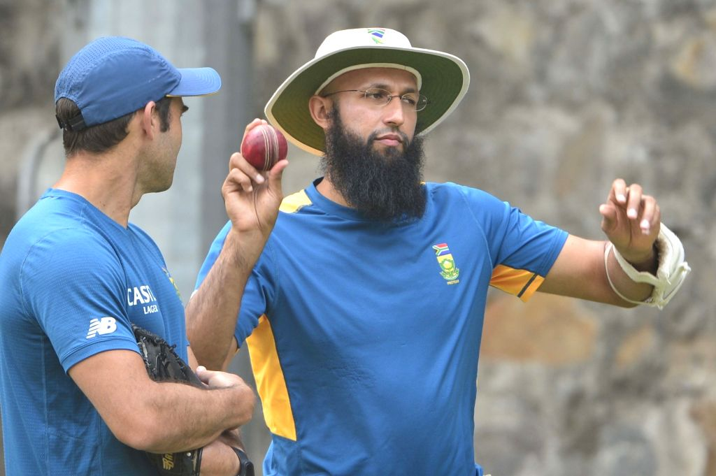 South African cricketer Hashim Amla during a practice session at ahead of the Fourth Test Match against India at Feroz Shah Kotla Ground in New Delhi on Dec 2, 2015.