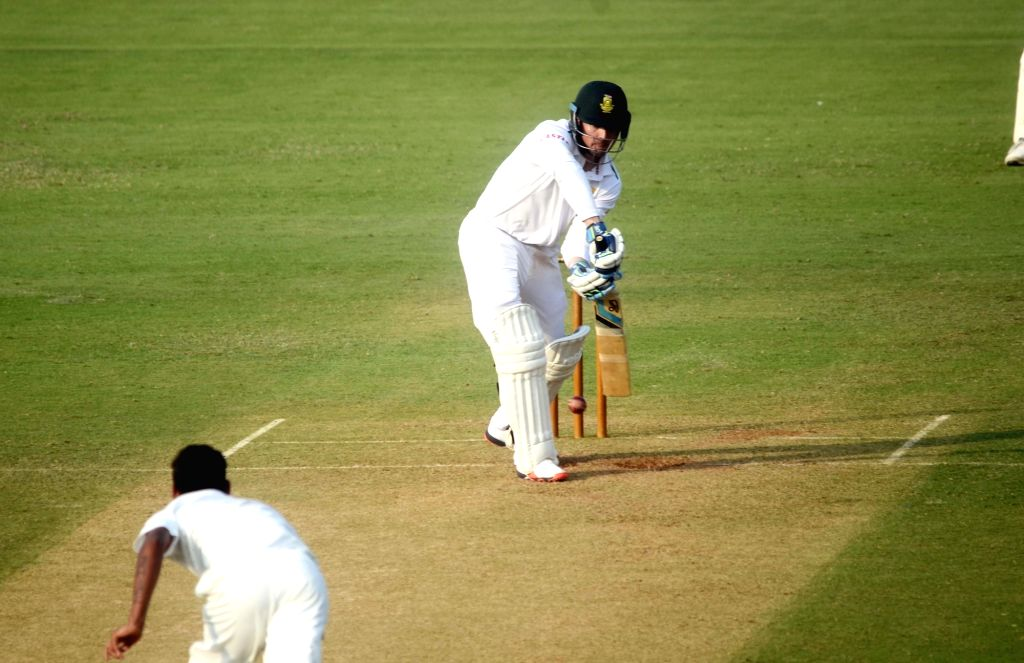 South African player Stiaan van Zyl in action during a match between Indian Board President`s XI and South African at Brabourne Stadium in Mumbai on Oct 30, 2015.
