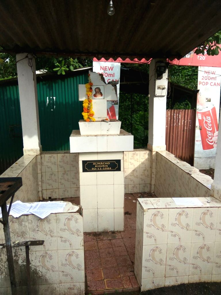 South Goa: The cross that was damaged in Quepem, Goa on July 6, 2017. Over the last few weeks, seven cases of vandalisation of Catholic crosses and Hindu idols have been reported in South Goa ...