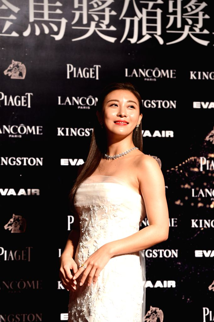 South Korean actress Ha Ji-won arrives for the 52nd Golden Horse Awards as an awarding guest in Taipei, southeast China's Taiwan, Nov. 21, 2015. The awarding ...