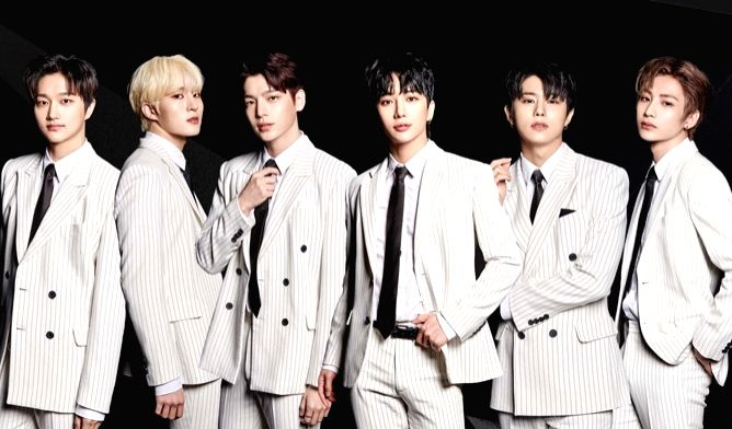 South Korean band IN2IT, a seven-member boy band comprising Jiahn, Yeontae, Inho, Hyunuk, Isaac, Inpyo and Sunghyun.