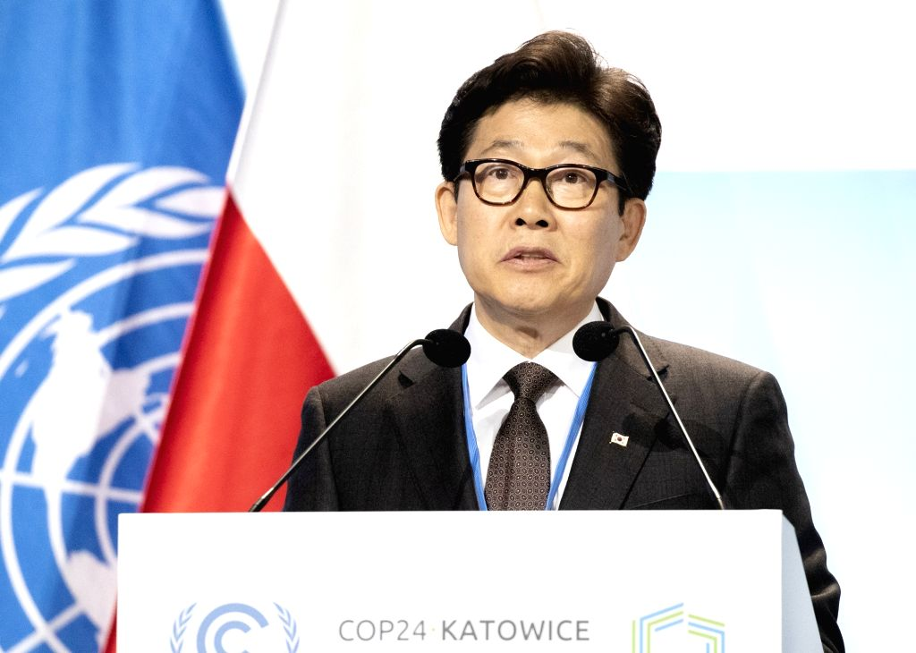 South Korean Environment Minister Cho Myung-rae gives a keynote speech during a session of the 24th Conference of Parties to the 1992 U.N. Framework Convention on Climate Change in ... - Cho Myung