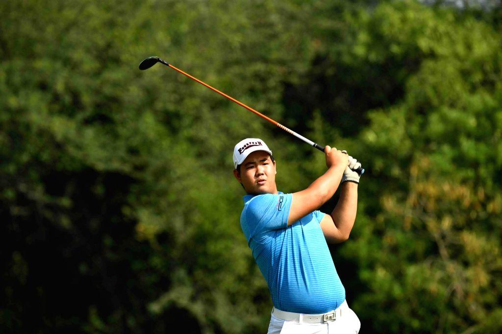 South Korean golfer Joohyung Kim in action.
