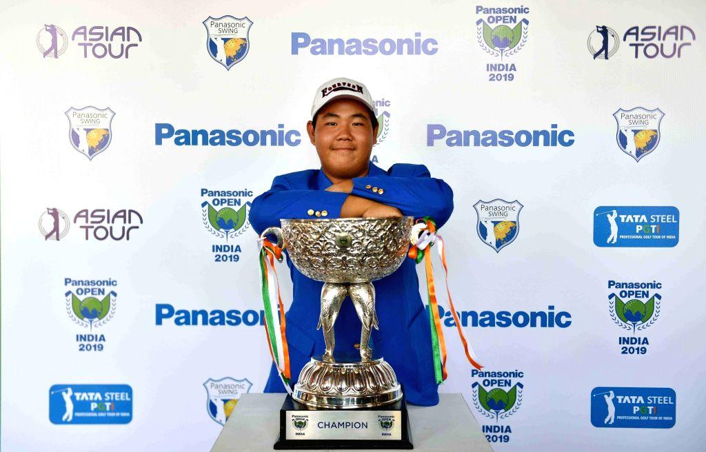 South Korean golfer Joohyung Kim with the Panasonic Open title.
