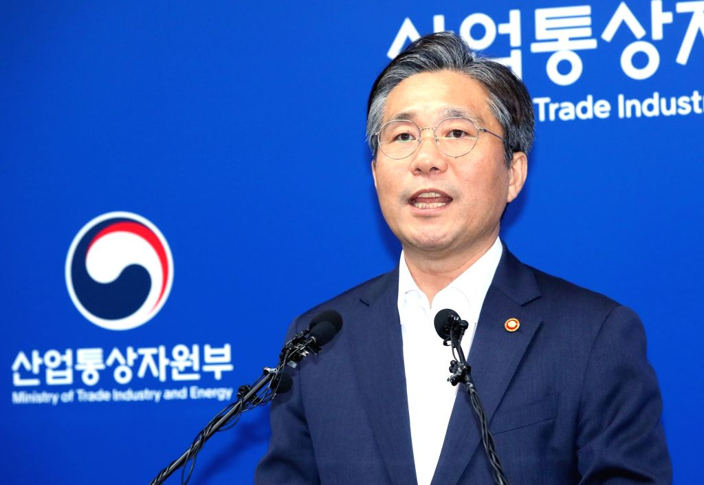 South Korean Industry Minister Sung Yun-mo announces a new export list in order to remove Japan from the so-called whitelist of trusted trade partners for preferential export treatment at the ... - Sung Yun