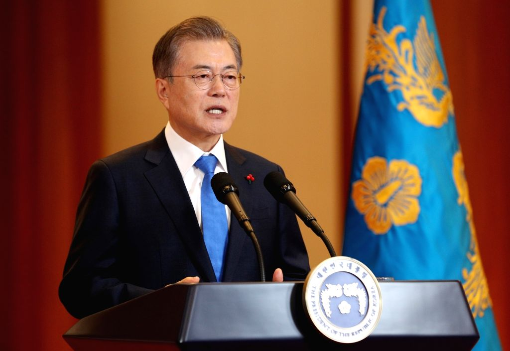 South Korean President Moon Jae-in . (File Photo: Xinhua/NEWSIS/IANS)