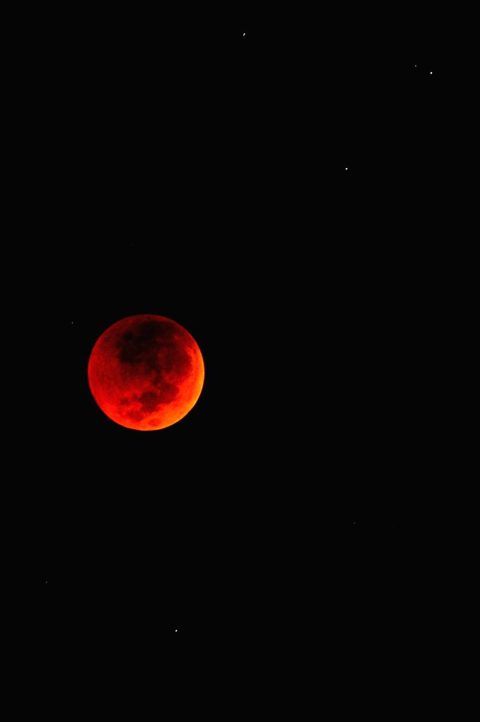 SOUTH TANGERANG (INDONESIA), July 28, 2018 Photo taken on July 28, 2018 shows the longest total lunar eclipse of the century in South Tangerang, Indonesia.