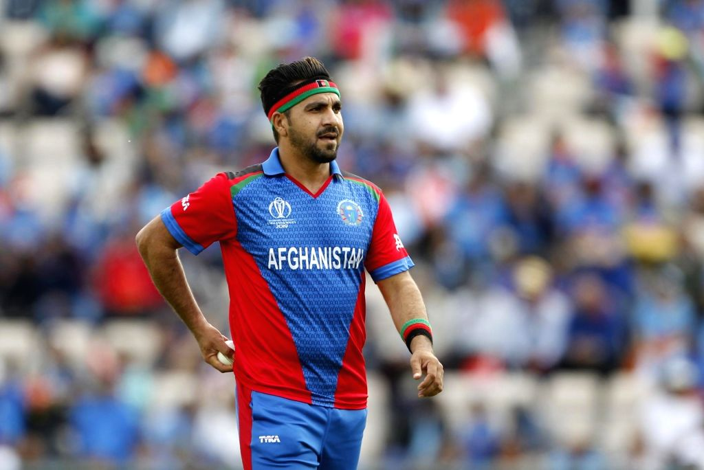 Southampton: Afghanistan's Aftab Alam during the 28th match of World Cup 2019 between India and Afghanistan at the The Rose Bowl in Southampton, England on June 22, 2019. (Photo: Surjeet Yadav/IANS) - Surjeet Yadav