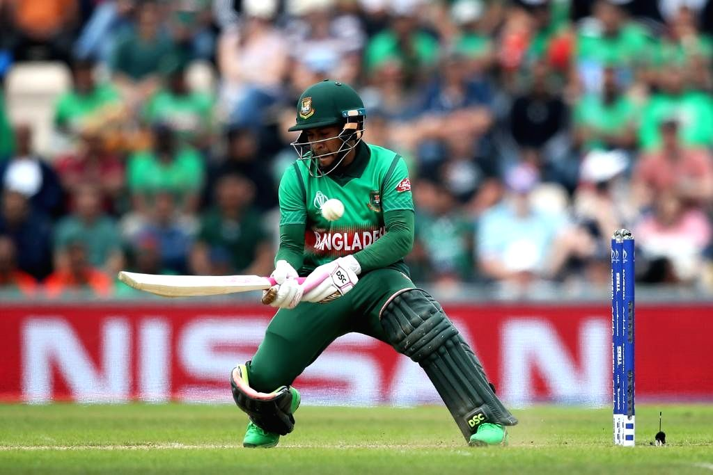 Southampton: Bangladesh's Mushfiqur Rahim in action during the 31st match of 2019 World Cup between Afghanistan and Bangladesh at the Rose Bowl in Southampton, England on June 24, 2019. (Photo Credit: Twitter/@cricketworldcup)
