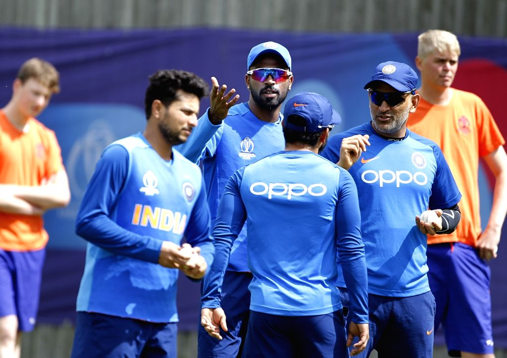 Southampton: Indian players during a practice session ahead of a World Cup 2019 match against Afghanistan at the Hampshire Bowl in Southampton, England on June 20, 2019. (Photo: Surjeet Yadav/IANS) - Surjeet Yadav