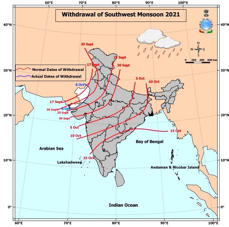 Southwest monsoon withdrawal commences on Wednesday: IMD.