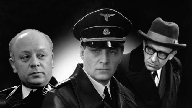 Soviet super-spy Stirlitz (centre), created by journalist-cum-author Yuliam Semyonov, as played by actor Vyacheslav Tikhonov in a popular Russian TV series - Vyacheslav Tikhonov
