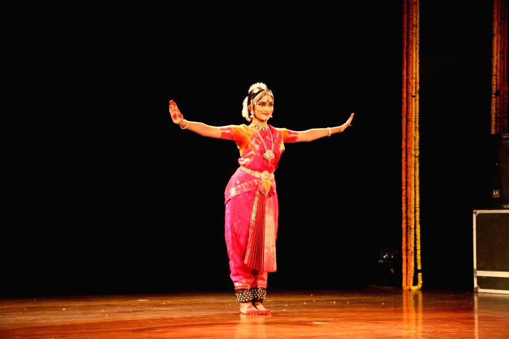 Sowmya Laxmi during Bharatanatyam Arengtram presented by Guru Geeta Chandran.