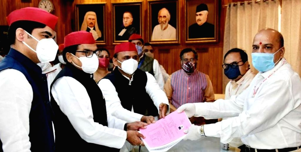 SP's Ram Gopal Yadav files nomination for RS polls. - Gopal Yadav