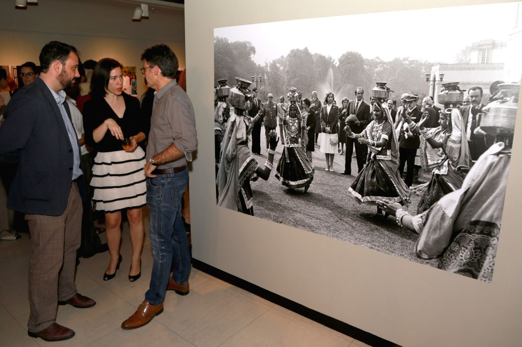 "Spain Ambassador Magdalena Cruz Yabar during the photography exhibition ""SPAINDIA"" organised by the Embassy of Spain in collaboration with Instituto Cervantes and Agencia EFE ..."