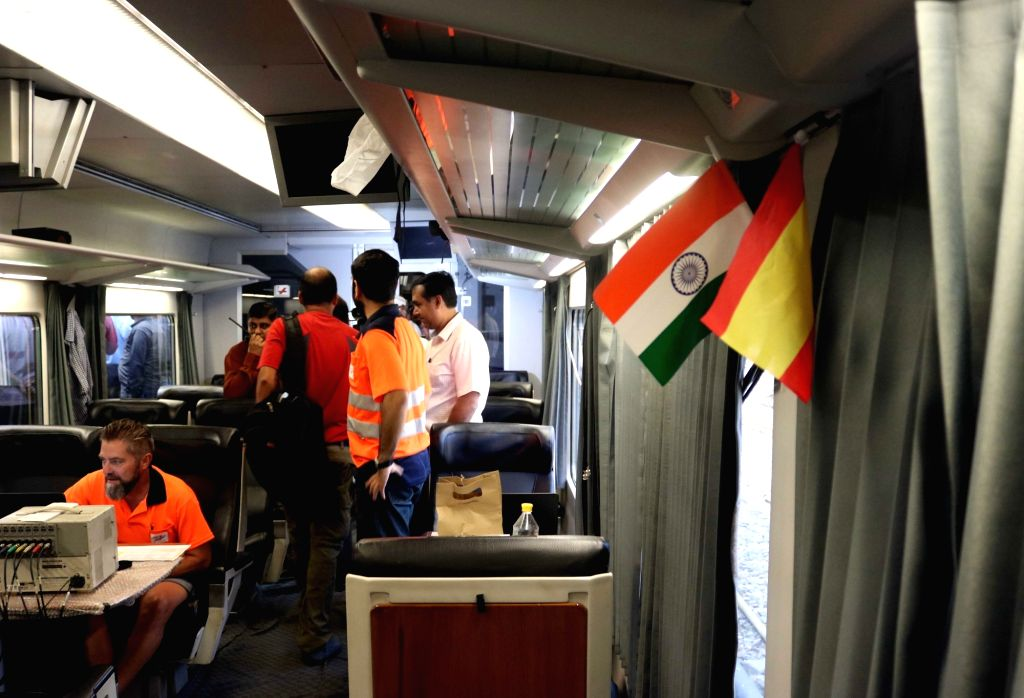 Spanish-made Talgo high-speed train that embarked on its final trial to Mumbai from New Delhi Railway Station on Sept 10, 2016.