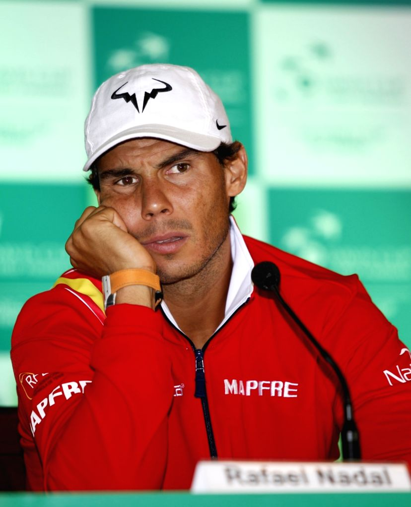 Spanish tennis player Rafael Nadal during a press conference in New Delhi on Sept 15, 2016.