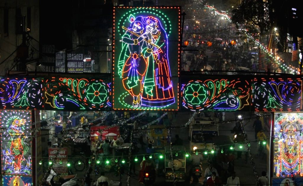 Special lighting  on Diwali festival in New Delhi on Saturday November 14, 2020.