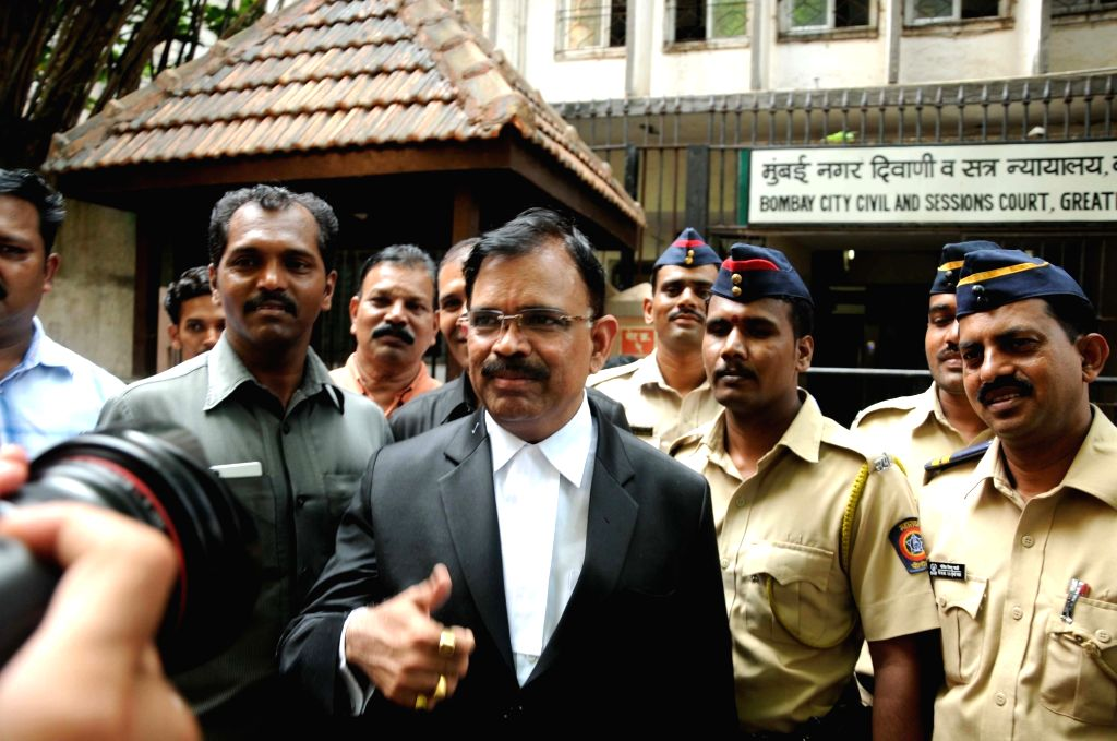 Special public prosecutor Deepak Salvi talks to the press after the proceedings in 1993 Mumbai blasts case outside the  Bombay City Civil and Sessions Court in Mumbai on Sept 7, 2017.