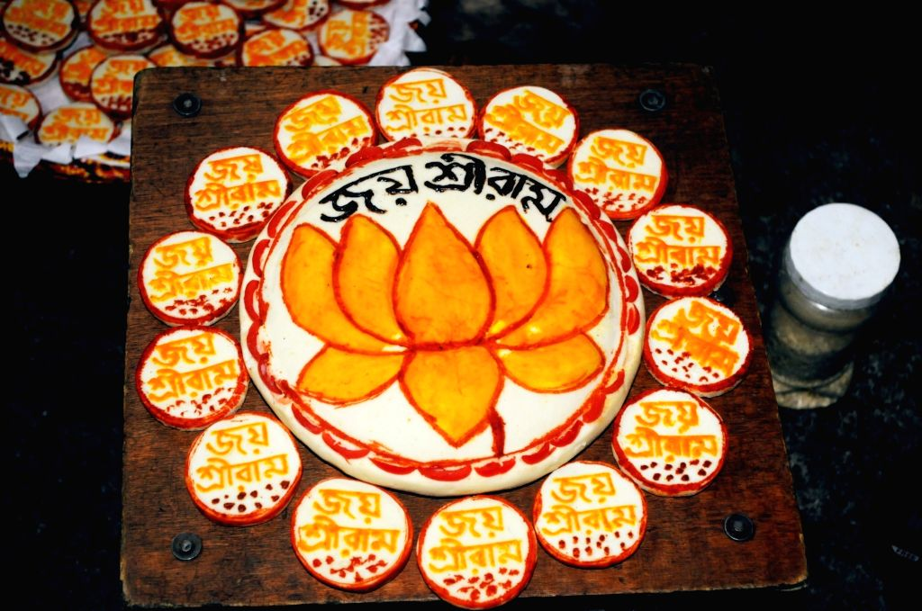 Special sweets being prepared to be sent to Ayodhya for the ground breaking ceremony of the Ram Temple; in Kolkata on Aug 4, 2020.