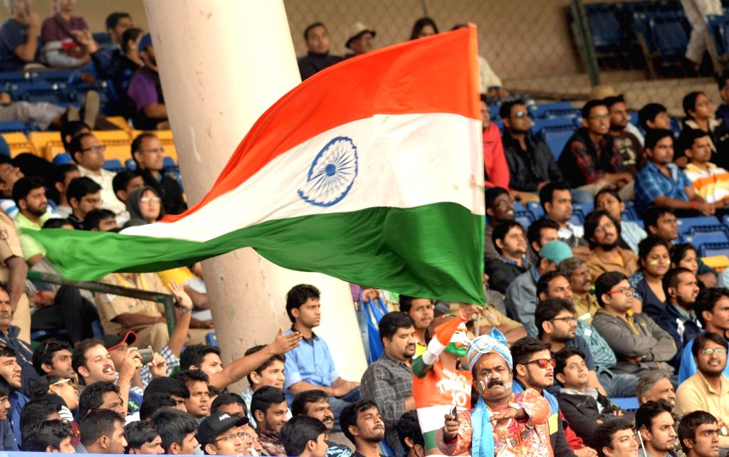 Spectators at M Chinnaswamy Stadium during the first day of the second test match between India and South Africa in Bengaluru, on Nov 14, 2015.