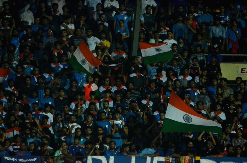 Spectators during an Intercontinental Cup 2018 match between India and New Zealand in Mumbai, on June 7, 2018.