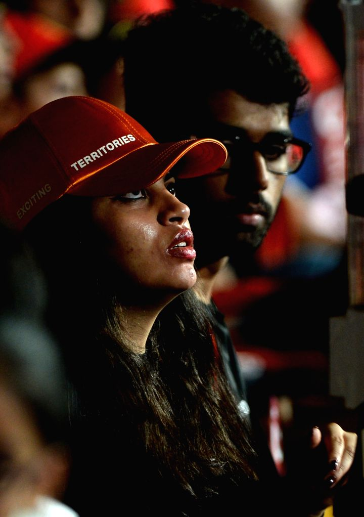 Spectators during an IPL 2017 match between Sunrisers Hyderabad and Royal Challengers Bangalore at M Chinnaswamy Stadium in Bengaluru on April 25, 2017.