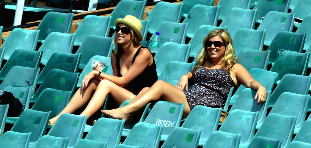 Spectators during the 3rd Day of the First Test match between India and South Africa played at New Wanderers Stadium in Johannesburg on Dec.20, 2013.
