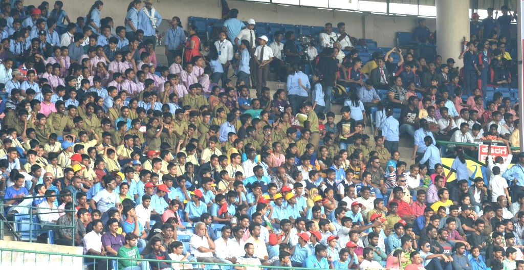 Spectators during the third day of the second test match between India and Australia at M. Chinnaswamy Stadium in Bengaluru on March 6, 2017.