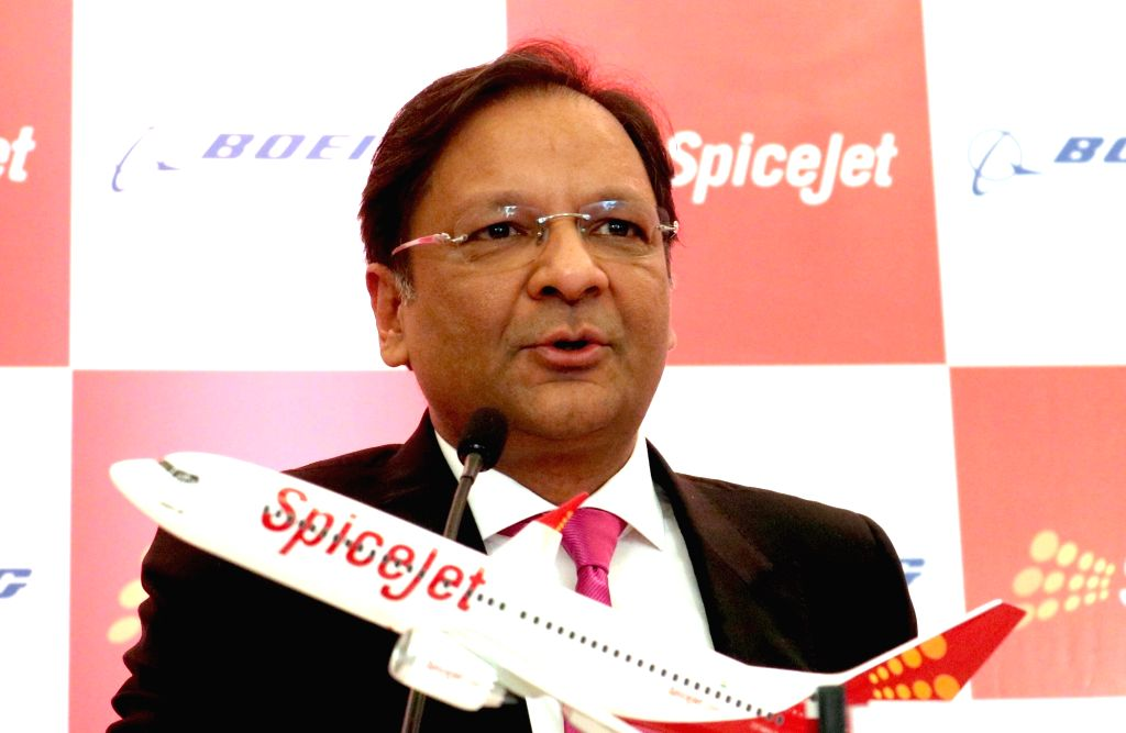 SpiceJet Chairman and Managing Director Ajay Singh during a programme organised to sign a joint venture between SpiceJet and Boeing in New Delhi on Jan 13, 2017. - Ajay Singh