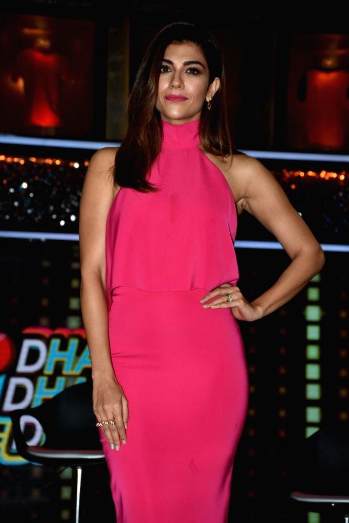 "Sports Anchor Archana Vijaya at the launch of cricket and comedy show ""Dhan Dhana Dhan"" in Mumbai on April 4, 2018."