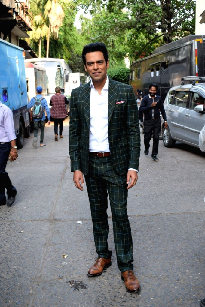 "Sports anchor Samir Kochhar at the launch of cricket and comedy show ""Dhan Dhana Dhan"" in Mumbai on April 4, 2018."
