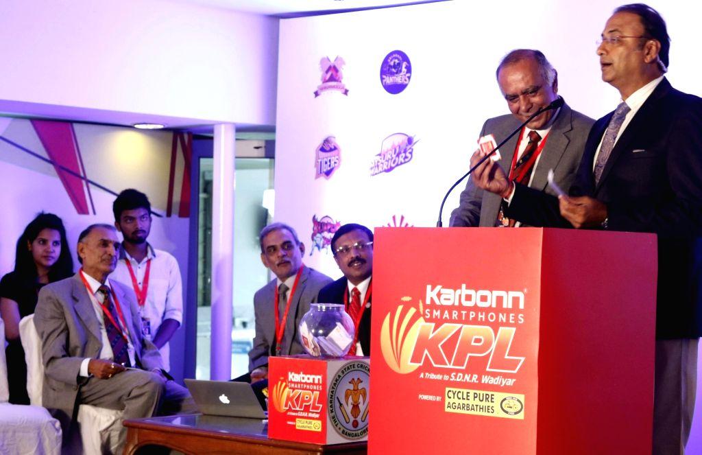Sports commentator Charu Sharma conducts Karnataka Premier League in Bengaluru, on Aug 6, 2017. - Charu Sharma